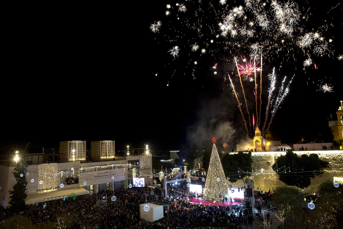 Annual Christmas Eve celebrations take place in Bethlehem